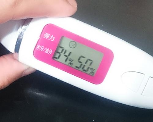 洗顔40分後、肌の水分量
